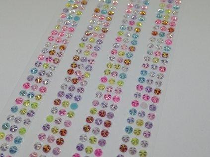 Samolepiace kamienky 5 mm mix farieb s AB efektom
