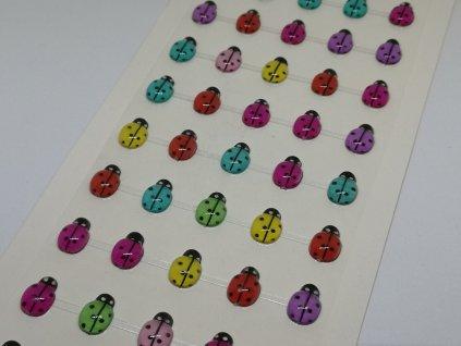 Samolepiace lienky mix farieb 10x13mm