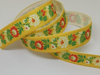 Krojová stuha tlačená 20mm žltá