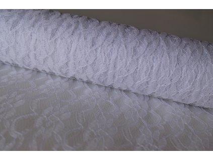 Dekoračná čipka 20cm/9,14m biela
