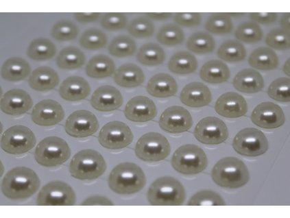 Samolepiace polperličky 10 mm krémové
