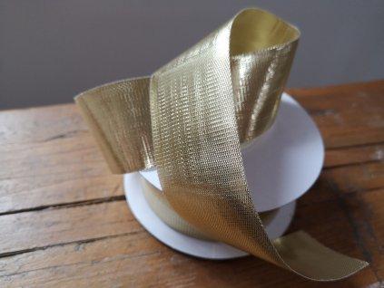 Metalizovaná zlatá stuha 38 mm