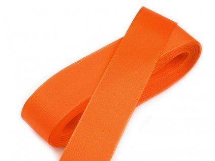 Taftová stuha 6mm/10m oranžová 617