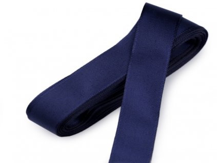 Taftová stuha 6mm/10m tmavá modrá 430