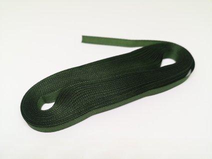 Taftová stuha 6mm olivová zelená 322