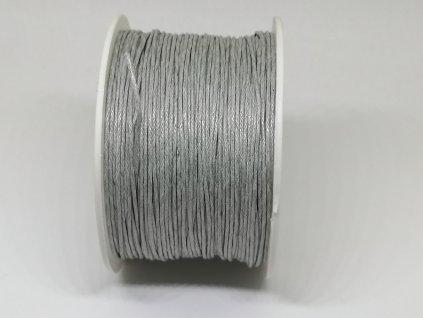 Šnúra voskovaná sivá Ø1 mm