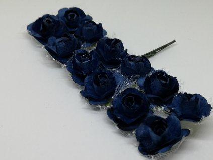 Papierové ružičky modré s tylom