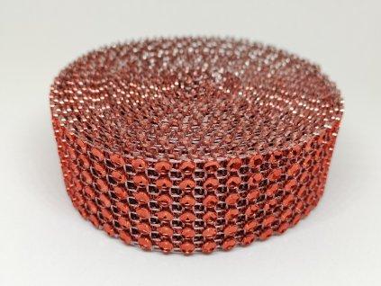 Diamantový pás 30mm červený