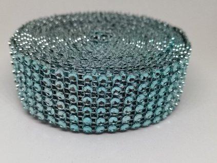 Diamantový pás 30mm akvamarínový