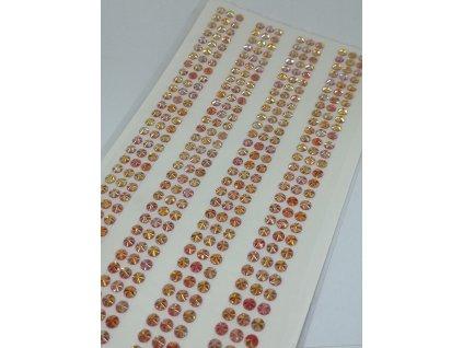 Samolepiace kamienky 5 mm červené s AB efektom