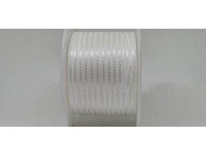 Saténová stuha 3,5mm A002 perleťová biela