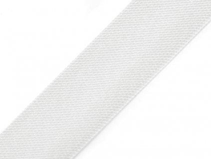 Šikmý prúžok saténový 18mm biely