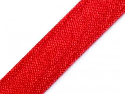 Šikmý prúžok saténový 18mm červený