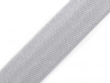 Šikmý prúžok saténový 18mm svetlo šedý