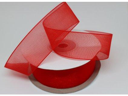 Šifónová stuha 25mm žiarivá červená
