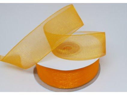 Monofilová stuha 25mm svetlá oranžová