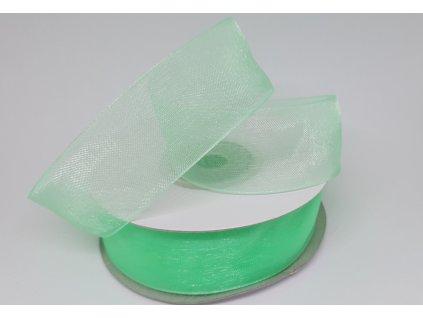 Monofilová stuha 25mm mentolová