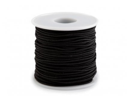 Klobúková guma guľatá Ø1,2mm čierna