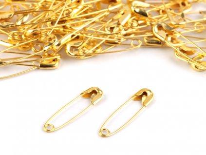 Zatváracie špendlíky zlaté 19mm