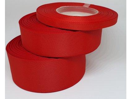 Rypsová stuha 6mm červená 050