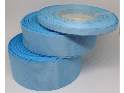 Rypsová stuha 6mm nebeská modrá 091