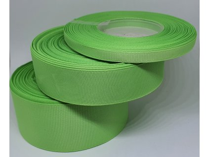 Rypsová stuha 6mm žiarivá zelená 083