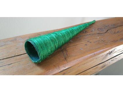 Sisalový kornútok zelený 37cm/7cm