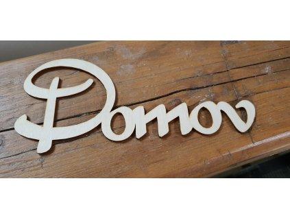 Drevený nápis DOMOV 24x10,5cm natur
