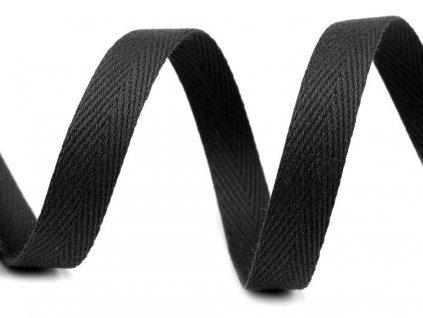 Keprovka - tkaloun 10mm čierna