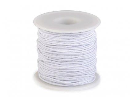 Klobúková guma guľatá Ø2mm biela