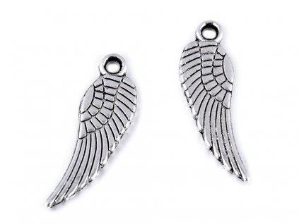 Prívesok anjelské krídlo 5x17mm platina
