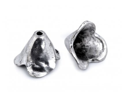 Koncovka na šnúrku / kaplík platina 10x14 mm