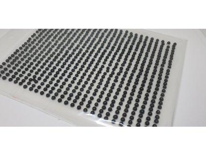 Samolepiace polperličky 3 mm čierne