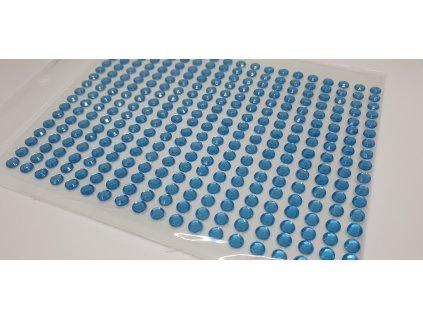 Samolepiace kamienky 4 mm tyrkysové