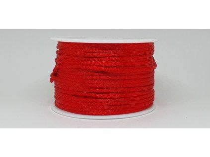 Šnúra Ø2 mm saténová žiarivá červená A058
