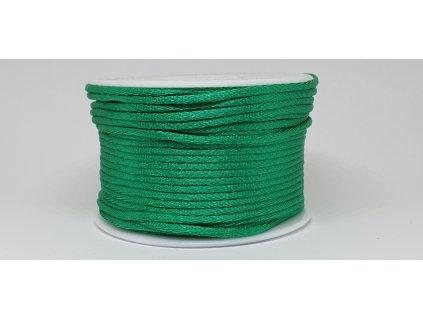 Šnúra Ø2 mm saténová vianočná zelená A072
