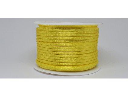 Šnúra Ø2 mm saténová žltá A008