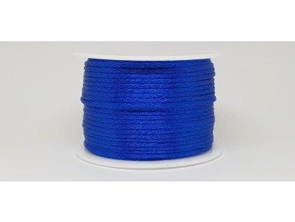 Šnúra Ø2 mm saténová elektrizujúca modrá A031