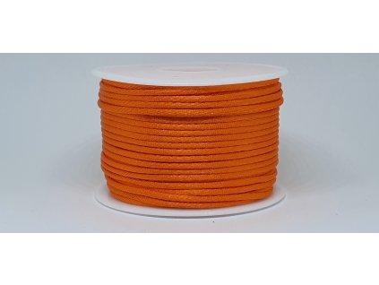 Šnúra Ø2 mm saténová pomarančová A012