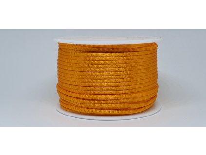 Šnúra Ø2 mm saténová svetlá oranžová A011
