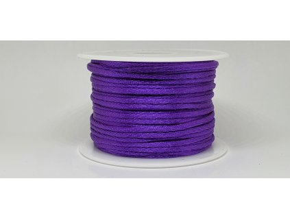 Šnúra Ø2 mm saténová tmavá fialová A044