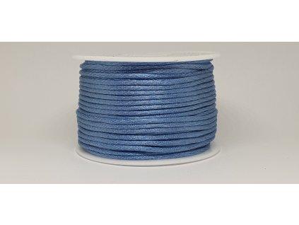 Šnúra Ø2 mm saténová modrá capri A034