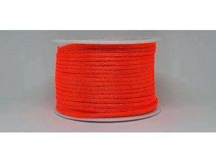 Šnúra Ø2 mm saténová neónová oranžová A051