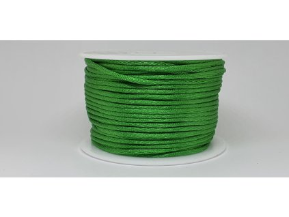 Šnúra Ø2 mm saténová smaragdová zelená A022