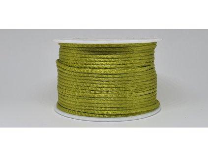 Šnúra Ø2 mm saténová žiarivá zelená A025
