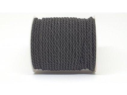 Šnúra točená Ø5mm čierna A040