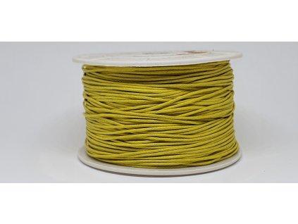 Šnúra voskovaná Ø1 mm žltá A008
