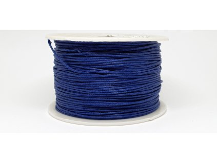 Šnúra voskovaná Ø1 mm kráľovská modrá A032