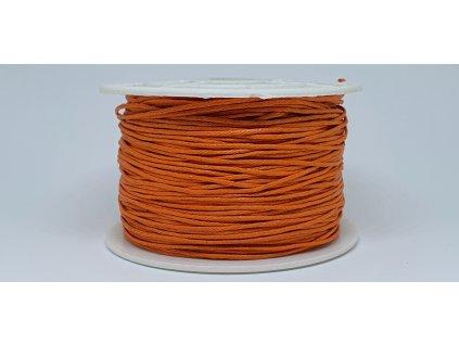 Šnúra voskovaná Ø1 mm pomarančová A012