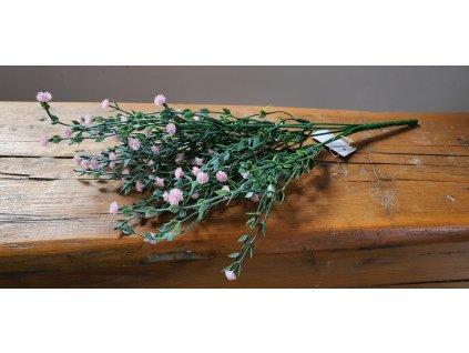 Zelená vetvička gypsomilka ružová 35 cm